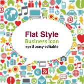 Flat style talk icon - business concept