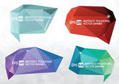 A collection of vector modern abstract origami polygonal banner