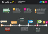 Timeline Pro - different tooltips - vector infographic