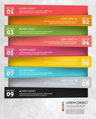 Modern business options banner. Vector illustration. Infographic