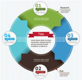 Template for your business presentation (Circle Infographic)