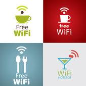 Wifi cafe icon set