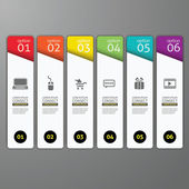 Colorful banners template for step presentation - can be used fo