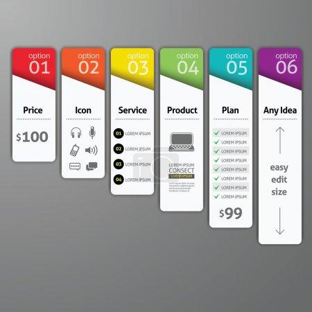 Illustration pour Modèle d'élément de conception abstrait. Illustration vectorielle. peut être utilisé pour la mise en page du flux de travail, diagramme, options de nombre, options d'intensification, bannière, conception Web, modèle d'infographie - image libre de droit
