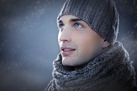 Man in Winter Clothes