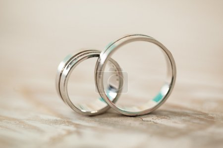 Photo for Wedding rings in close-up. - Royalty Free Image