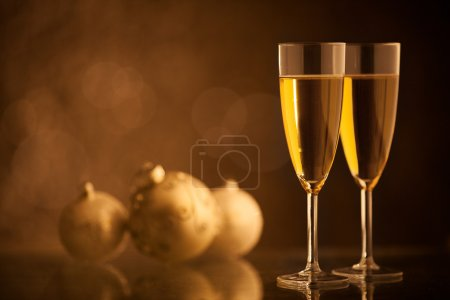 Champagne Glasses and Ornaments
