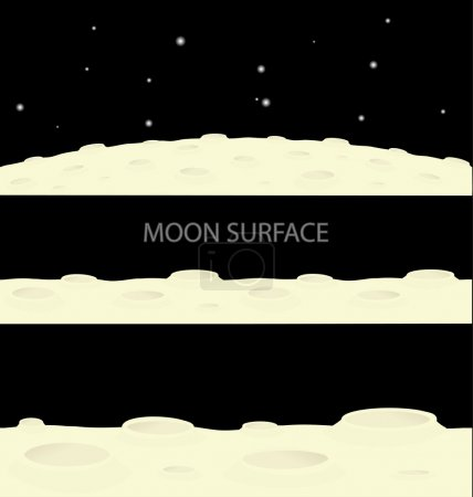 Illustration for Moon surface illustration - Royalty Free Image