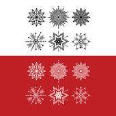 Sněhové vločky Vánoční dekorace