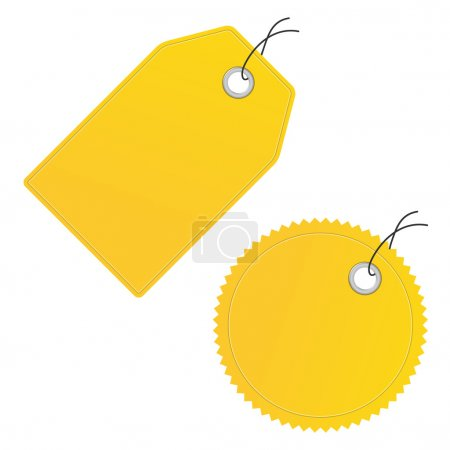 blank yellow price labels vector icon