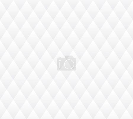 Illustration for Vector seamless background. White and gray geometric texture. - Royalty Free Image