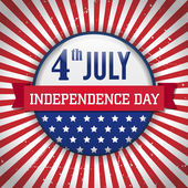 Vintage independence day badge poster Vector illustration Layered