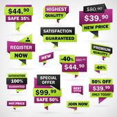 Business grün und violett Preis Etiketten