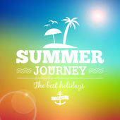 Summer Sunrise hawaii journey vector text typography vintage poster isolated from background