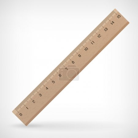 Vector wooden ruler illustration