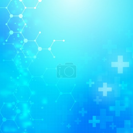 Illustration for Abstract medical technology vector background. layered. - Royalty Free Image
