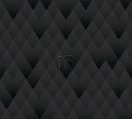 Illustration for Vector seamless background. Dark gray geometric texture. - Royalty Free Image