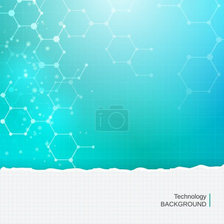 Illustration for Abstract chemistry molecules technology medical vector background. layered. - Royalty Free Image