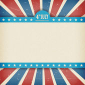 Vintage independence 4th July american day poster Vector illustration Layered