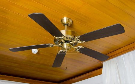 Photo for Ceiling fan in bedroom. - Royalty Free Image