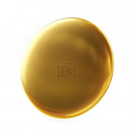 Golden Badge Isolated on White background