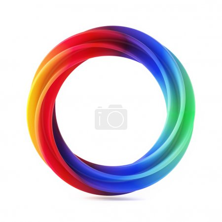 Photo for Abstract Shape, Multicolor Ring Isolated on White Background - Royalty Free Image