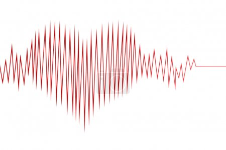 Abstract heart cardiogram
