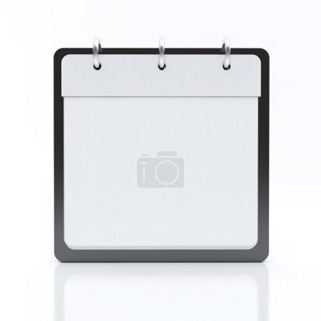 Calendar on White Background