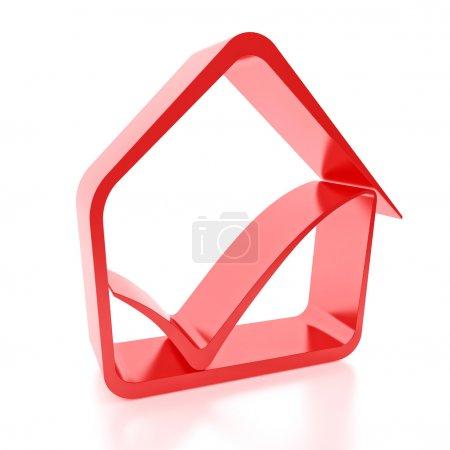 Photo pour Véritable signe de maison icône - image libre de droit