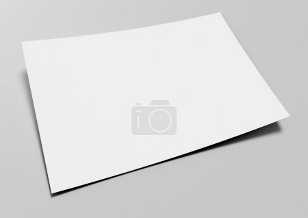 Blank paper on gray background - Blank Card