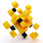 3D cubes colorés abstraits