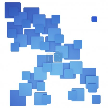 Colorful square abstract pattern blue