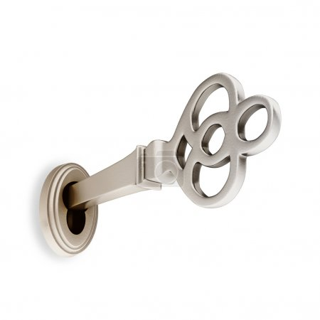 3D Ancient Silver Key