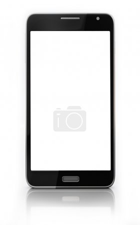 Smart Phone Blank Touch Screen Isolated on White Background