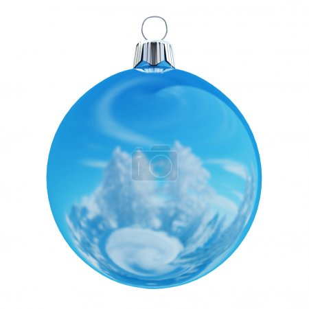 New Years Eve bauble blank. Christmas ball winter color .