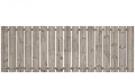 Wooden Fence on White background, Old Panels