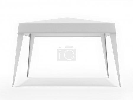 White Suny Canopy Isolated on White Background