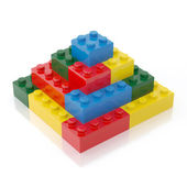 Colorful Building Block Isolated on White background
