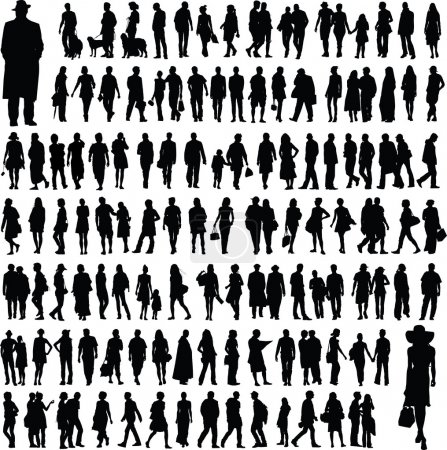 Illustration for Collection of abstract silhouettes - Royalty Free Image