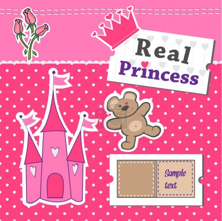 Real Princess scrap template