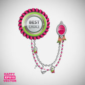 Glamorous vector best choice label with charms
