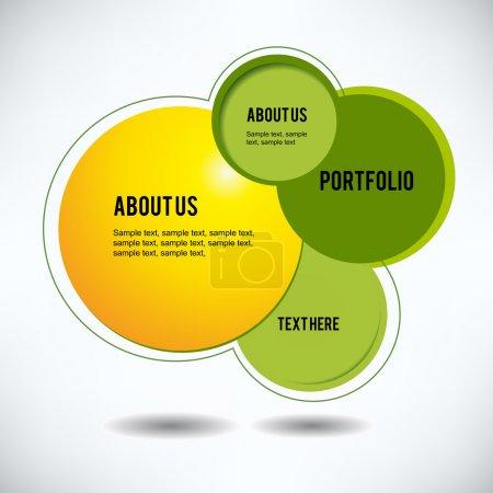 Photo pour Modèle abstrait de conception de site Web - image libre de droit