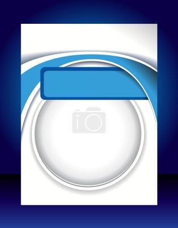 Photo pour Affiche d'affaires abstraite bleue. Modèle de mise en page - image libre de droit