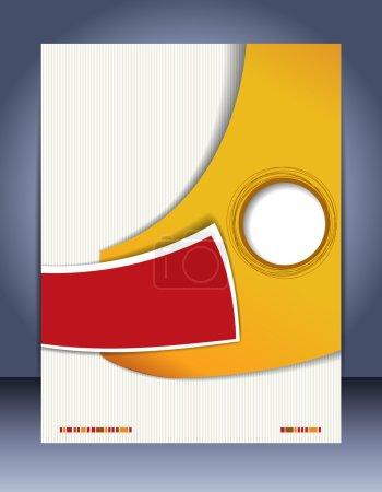 Photo pour Brochure design contenu fond. Modèle de mise en page de conception - image libre de droit