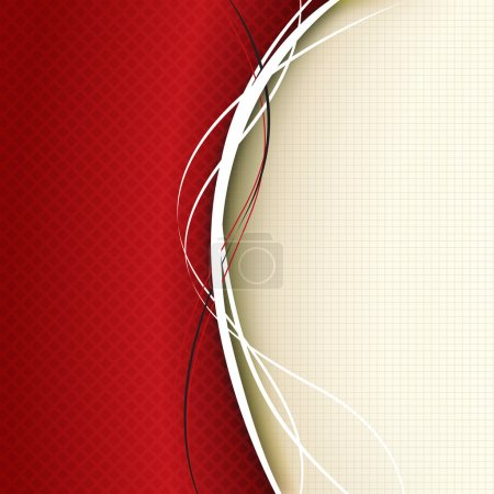 Photo for Red background composition - illustration - Royalty Free Image