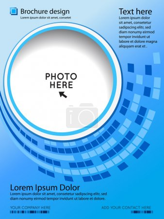 Photo for Brochure design content background. Design layout templat - Royalty Free Image
