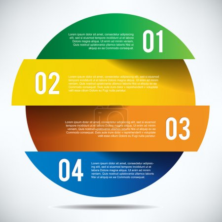 Colorful infographics banner design