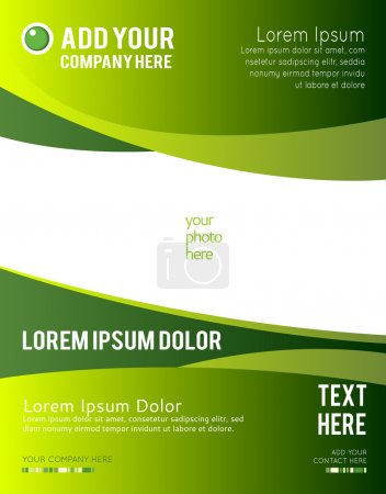Illustration for Abstract green and white vector background - Royalty Free Image