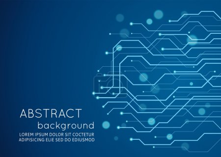 Illustration for Abstract blue technology circuit board, Vector background. - Royalty Free Image