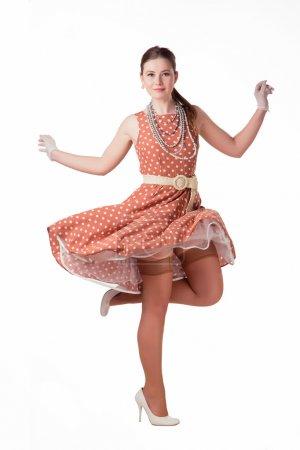 Girl in polka dot dress